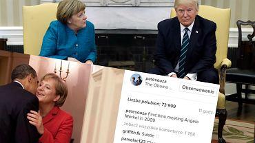 Spotkania Angeli Merkel z Donaldem Trumpem i Barackiem Obamą