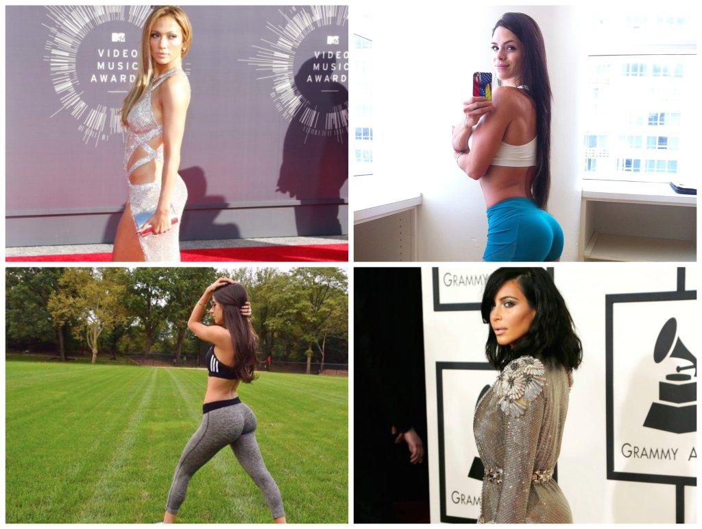 Jennifer Lopez, Michelle Lewin, Jen Selter, Kim Kardashian