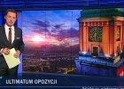 """""""Wiadomo�ci"""" TVP przyj�y konsekwentn� lini�: rz�d chce kompromisu, opozycja naciska, obra�a si� i ��da"""