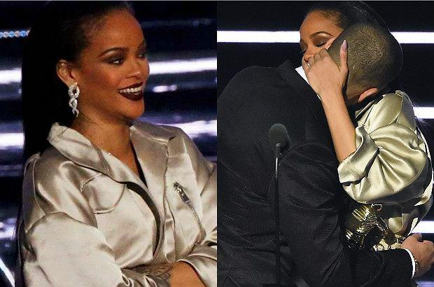 Rihanna na wczorajszej gali MTV Video Music Awards 2016 zostala uhonorowana najważniejszą nagrodą, Video Vanguard. Statuetkę wręczył jej Drake, który wyjątkowo przygotował się do tego zadania.