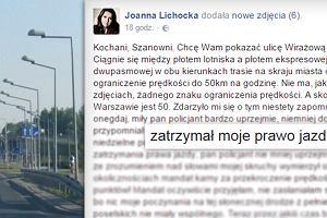 Joanna Lichocka straci�a prawo jazdy. Jej t�umaczenie?