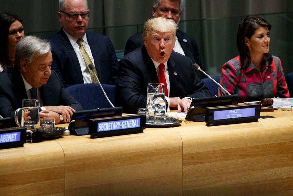 Donald Trump w ONZ, Nowy Jork, 24 września 2018 r.
