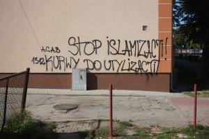 """""""Utylizacja islamskiej k..."""" Nienawi�� religijna na zielonog�rskich murach"""