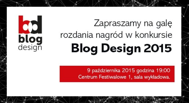 Zaproszenie na gal� Blog Design 2015