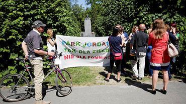 Park Jordana - protest aktywistów
