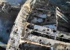 Widok z lotu ptaka na zniszczone lotnisko w Doniecku