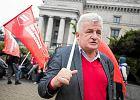 Piotr Ikonowicz na marszu przeciw ustawie 'Mieszkanie Plus', wrzesień 2017 r.