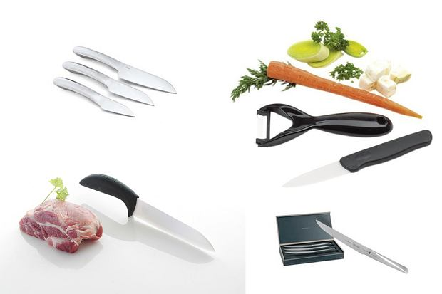 Noże ze stali i ceramiczne