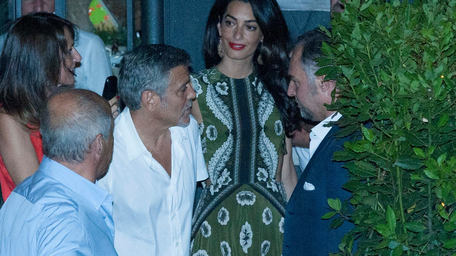 George Clooney is back in Como - pictured arriving with the twins Z18362402IER,Amal-i-George-Clooney