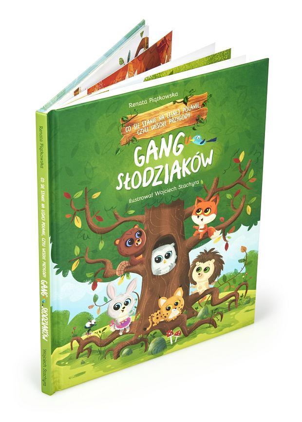 Oprócz maskotek w sklepach znajdziemy też książkę 'Co się stanie na leśnej polanie, czyli wesołe przygody Gangu Słodziaków'