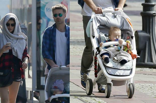 Zdjęcie numer 4 w galerii - Maciej Zakościelny na spacerze z dzieckiem i partnerką. Syn aktora ma piękny wózek. Jest ekologiczny. I NIEDROGI!