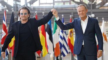 Bono i Donald Tusk