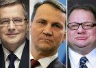 Komorowski, Sikorski i Kalisz - tym politykom najbardziej ufaj� Polacy [SONDA�]
