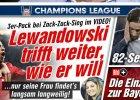 """Liga Mistrz�w. Media: """"Lewandowski strzela jak chce"""". Dosta� najwy�sze noty"""