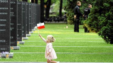 Cmentarz Powstańców Warszawskich na Woli. Uroczystości przy pomniku Polegli Niepokonani z okazji 70. rocznicy wybuchu Powstania Warszawskiego