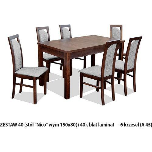 Ares Zestaw Stół z krzesłami