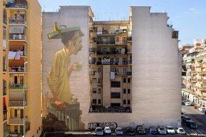 Polacy stworzyli najwi�kszy mural w Rzymie. Mieszka�cy s� zachwyceni, a media prze�cigaj� si� w wyrazach uznania