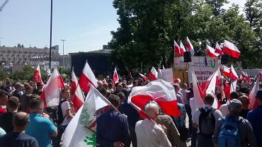 Protest Unii Warzywno-Ziemniaczanej w centrum Warszawy