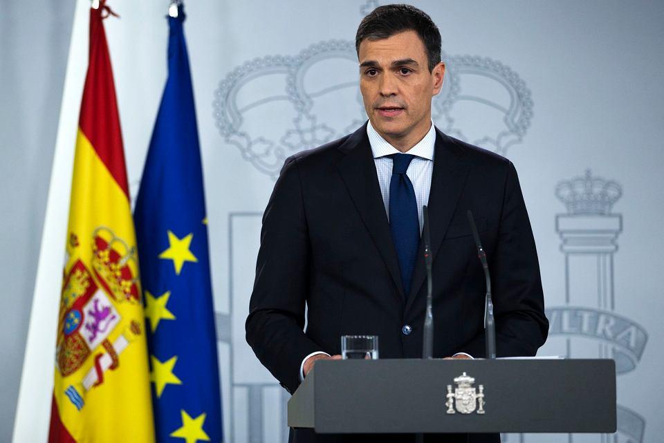 Socjalistyczny premier Pedro Sanchez