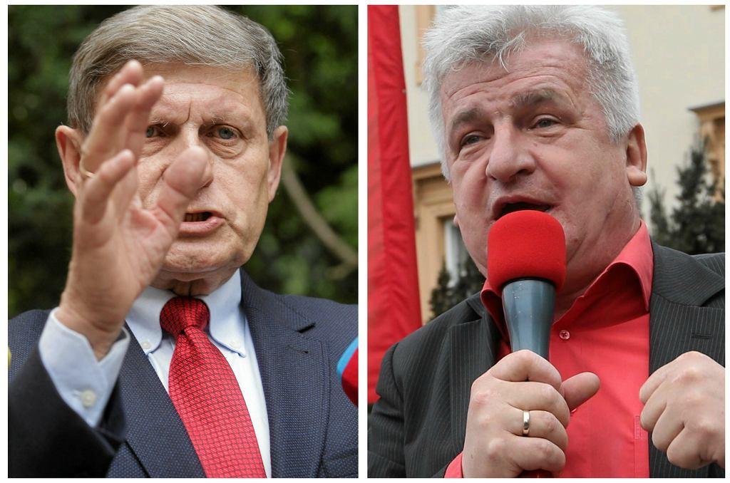 Leszek Balcerowicz i Piotr Ikonowicz (fot. Przemek Wierzchowski/