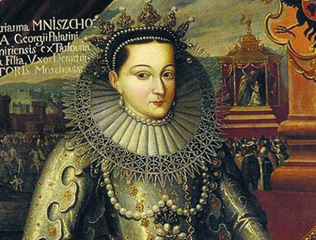 Maryna Mniszchówna (ok. 1588-1615). ''Kogo Bóg oświeci, pewnie i słusznie jaśnieć musi. Nie dlatego słońce niejasne, że je czasem czarne chmury zakryją'' - tak pisała Maryna Mniszchówna do Stanisława Studnickiego zwanego ''Diabłem'', jednego z najsłynniejszych awanturników i warchołów przełomu XVI i XVII wieku, który przez pewien czas był ochmistrzem na dworze polskiej carycy. Drugie zdanie oznacza zapewne, że jej niepowodzenia są chwilowe.