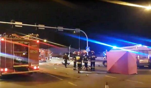 Tragiczny wypadek w Łodzi. Trzy osoby nie żyją, siedem zostało rannych