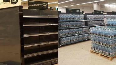 """W sklepach Almy """"jak za PRL-u"""". Puste p�ki i rz�dy butelek. Czemu? Sie� wyja�nia"""