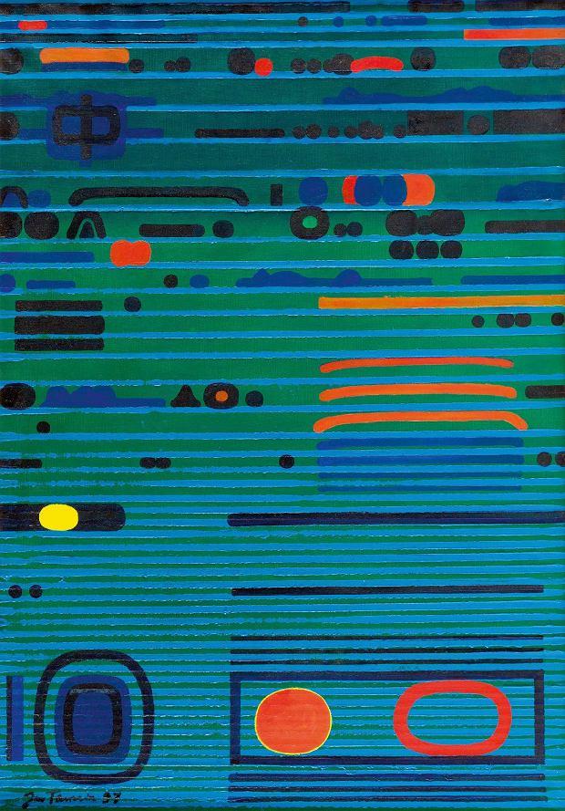 Jan Tarasin, Pulsująca zieleń, 92 x 65 cm, olej na płótnie, cena wywoławcza: 70 000 zł
