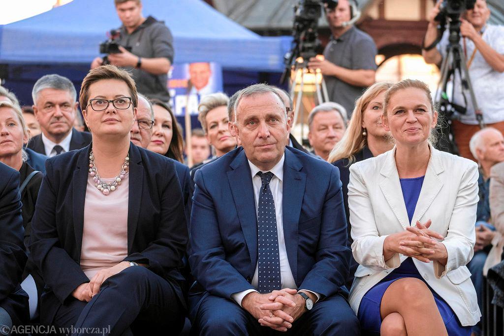 Katarzyna Lubnauer, Grzegorz Schetyna, Barbara Nowacka w Rzeszowie