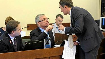 Prezydent Poznania Jacek Jaśkowiak i radny PiS Michał Boruczkowski