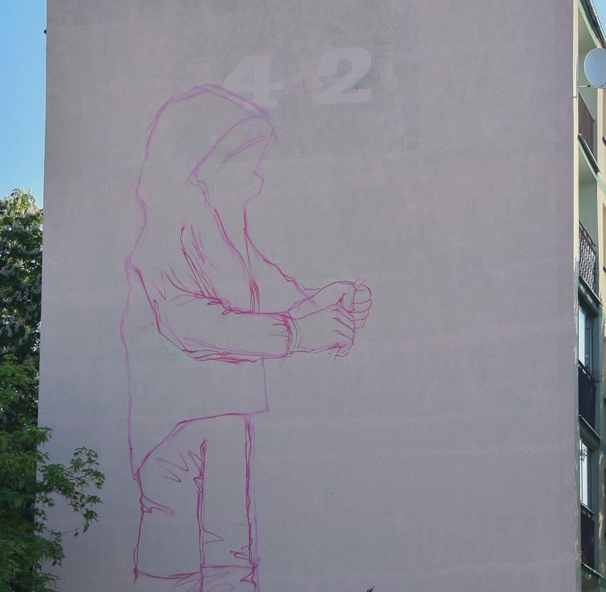 Nowy mural do dziewczynki z konewk do czy ch opczyk z for Mural bialystok dziewczynka z konewka