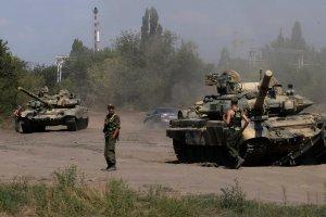 Rosyjskie czo�gi i transportery wdar�y si� na terytorium Ukrainy