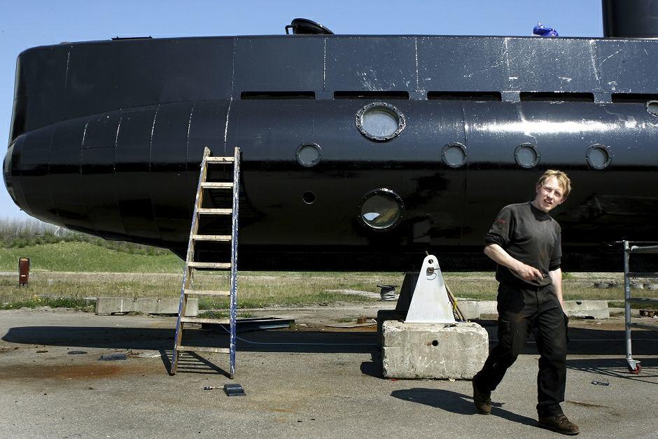 Peter Madsen i jego łódź