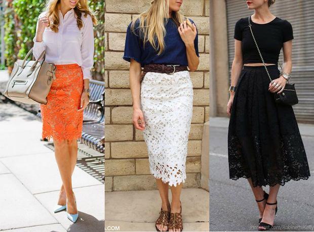 Koronkowa spódnica w trzech stylizacjach