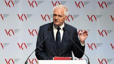 Minister szkolnictwa Jarosław Gowin podczas Narodowego Kongresu Nauki, Kraków 19.09.2017