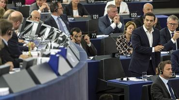 Tsipras i Tusk w europarlamencie