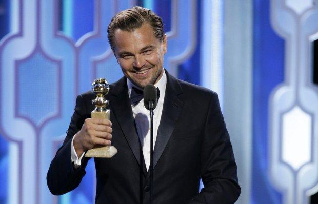 Z�ote Globy 2016 - Leonardo DiCaprio z nagrod� za rol� w filmie