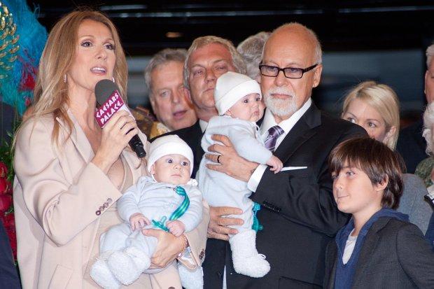 Celine Dion, Eddy Angelil, Nelson Angelil, Rene Angelil