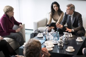 Angela Merkel, Amal Clooney i George Clooney