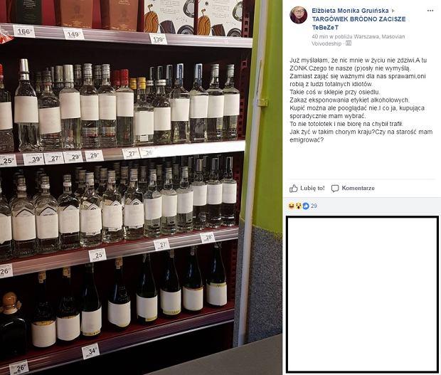 Zakaz eksponowania alkoholu na Targówku