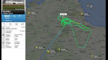 Lot samolotu Lufthansy
