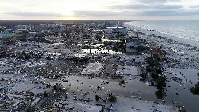 Floryda. Skutki przejścia huraganu Michael