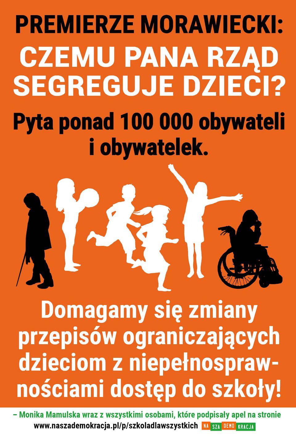 apel do premiera Morawieckiego
