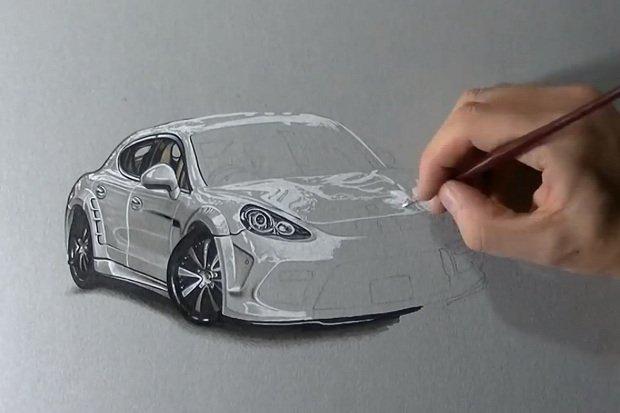 Wideo Jak Narysowac Porsche I Ferrari W 3d