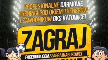 Plakat anonsujący akcję GKS-u Katowice