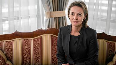 Prezes Sądu Okręgowego w Krakowie Dagmara Pawełczyk-Woicka w swoim gabinecie.