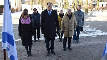 Prezydent Radomska w czasie obchodów upamiętniających cierpianie radomszczańskich Żydów w czasie II wojny światowej