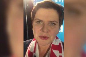 """Beata Szyd�o o imprezie PiS: """"Jest energia, jest moc, damy rad�, zwyci�ymy"""""""