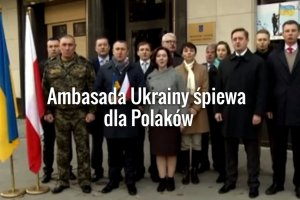 """Ambasada Ukrainy śpiewa hymn Polski. """"Serdecznie pozdrawiamy z okazji Święta Niepodległości!"""""""