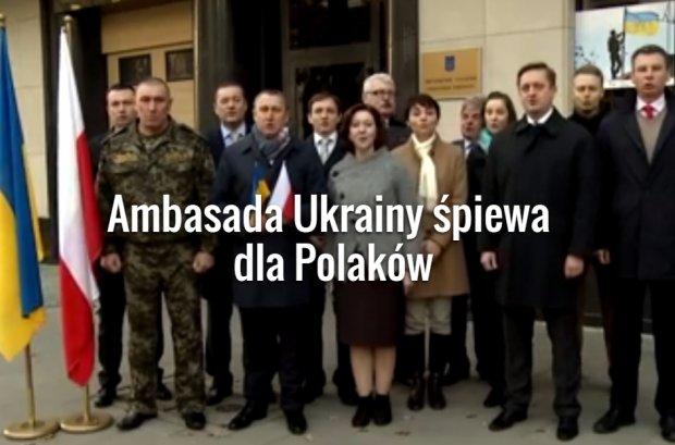 """Ambasada Ukrainy �piewa hymn Polski. """"Serdecznie pozdrawiamy z okazji �wi�ta Niepodleg�o�ci!"""""""
